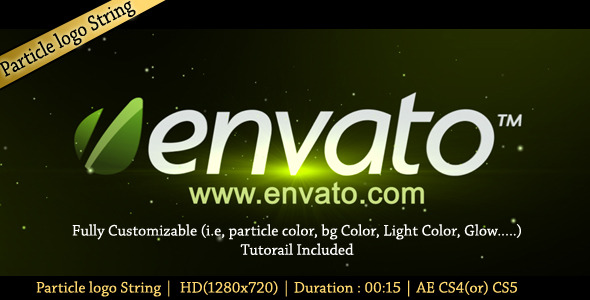 After Effects Project - VideoHive Particle Logo String 1195125