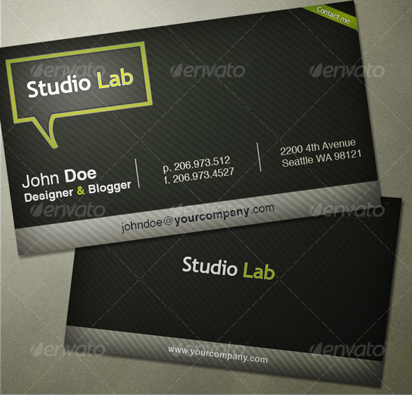 StudioLab Bussiness Card - Creative Business Cards