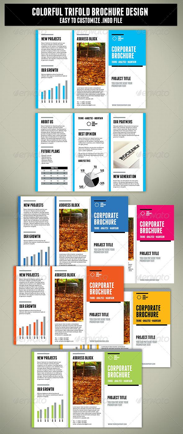 print template graphicriver tri fold brochure design