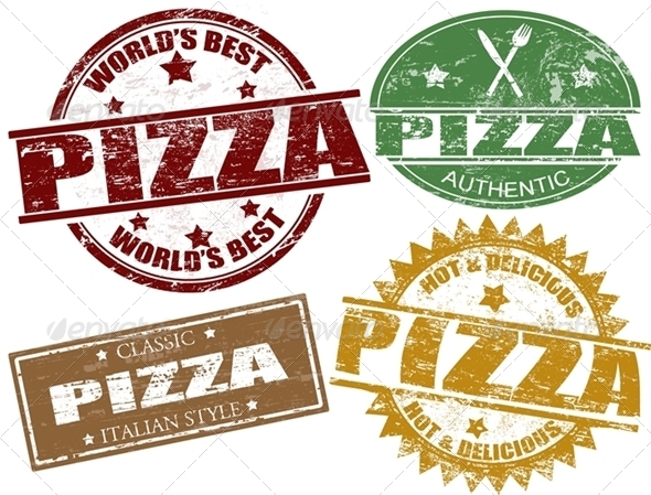 GraphicRiver Pizza Stamps 1198007