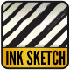 Ink Sketch Lines - 21 Illustrator Brushes