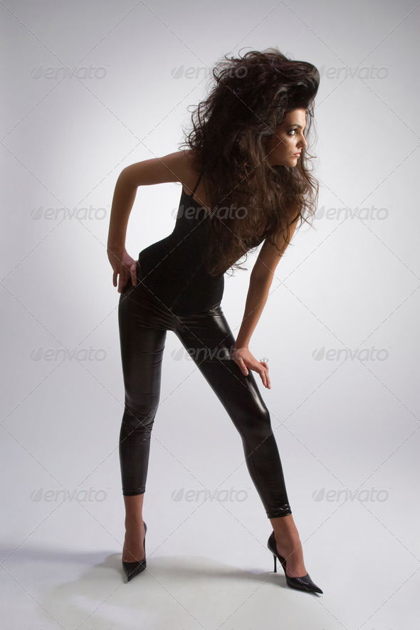 Woman in black - Stock Photo - Images
