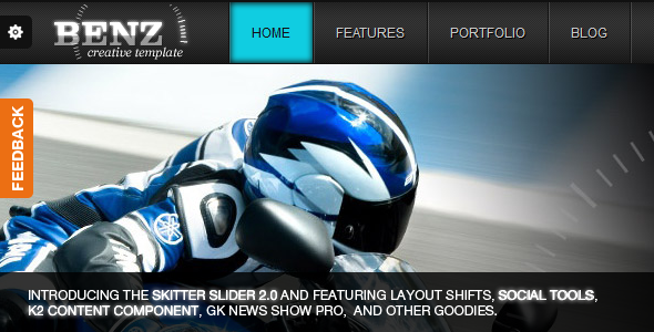 ThemeForest Benz Creative Template For Joomla 1160012