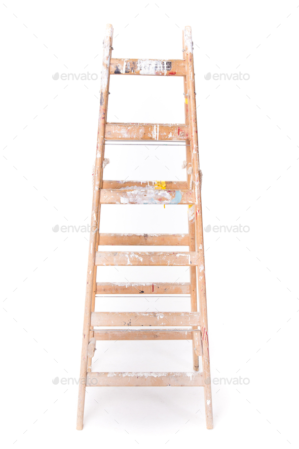 Paint Step Ladder Dirty Step Ladder With Paint