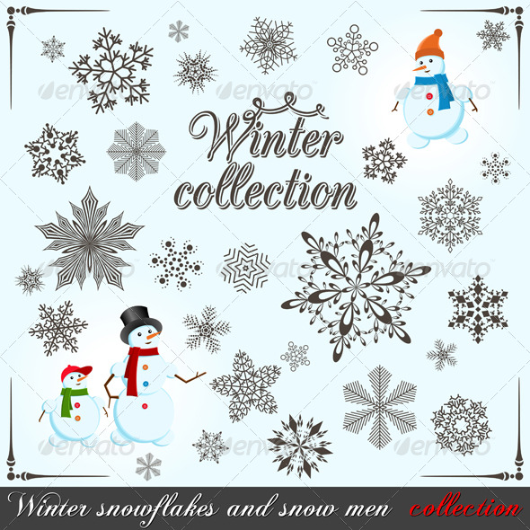 Winter collection - Web Elements Vectors