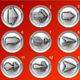15 silver arrow buttons - ActiveDen Item for Sale