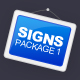 Signs Package 1 - GraphicRiver Item for Sale