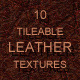 10 tileable dark leather textures - GraphicRiver Item for Sale