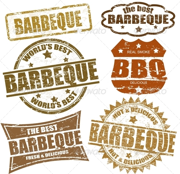 GraphicRiver Barbeque Stamps 1206478
