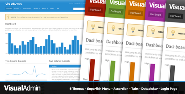 Visual Admin - Visual Admin - A Slick Admin Interface with 6 Themes