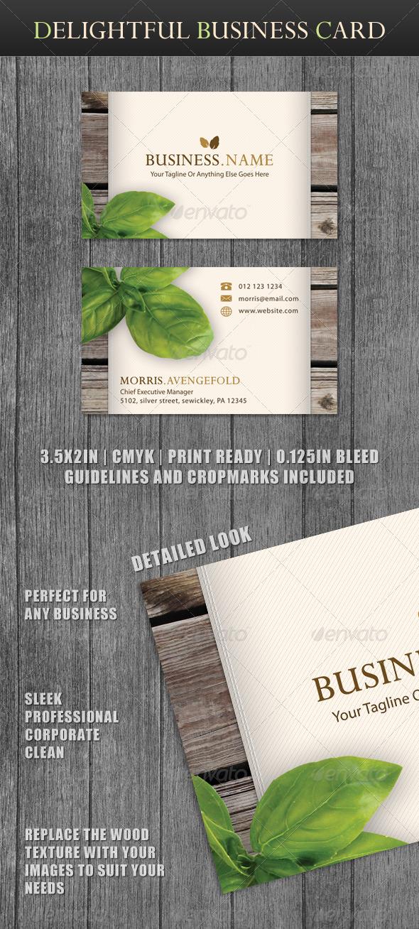 GraphicRiver Delightful Business Card 147354