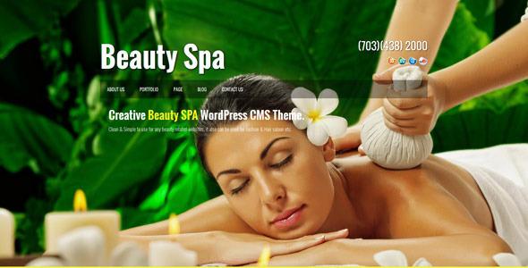 Beauty SPA - Creative WordPress CMS Theme by kayapati ...