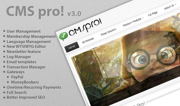 CMS pro v3.05 - Lightweight Content Management System - Codecanyon