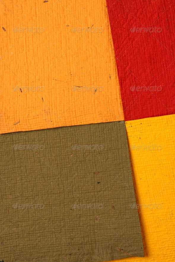 Handmade color papers - Stock Photo - Images