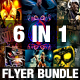 6in1 Flyer Bundle  - GraphicRiver Item for Sale