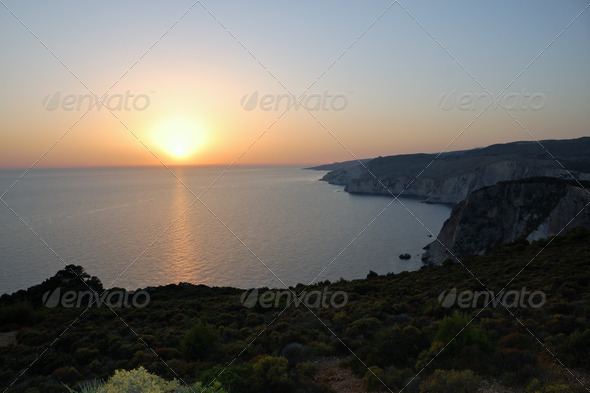 ocean sunset - Stock Photo - Images