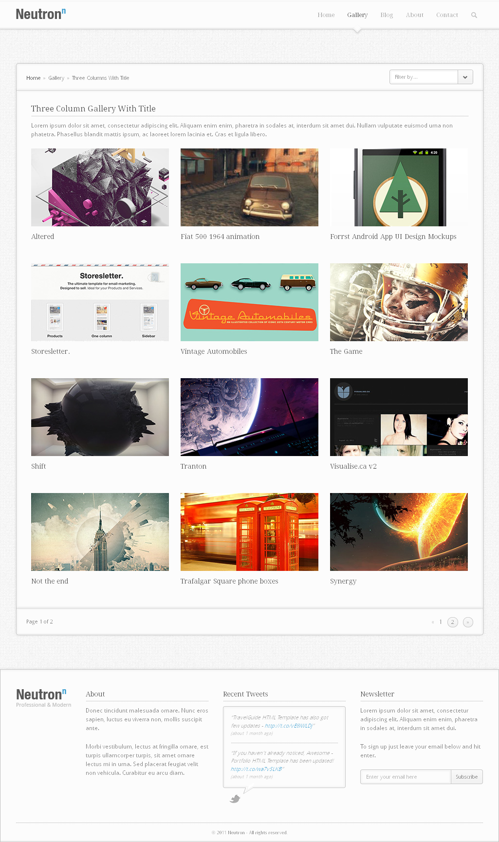Neutron - HTML5 Template