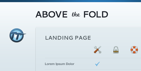 Above The Fold  Compact Landing Page