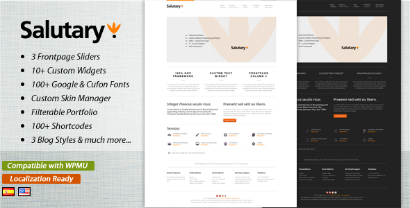 ThemeForest Salutary Business & Portfolio WordPress Theme 1216590