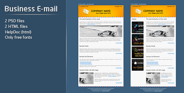 ThemeForest Business E-mail Template 137154