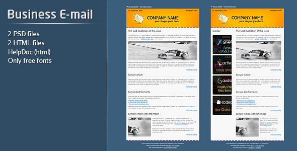 Business E-mail Template