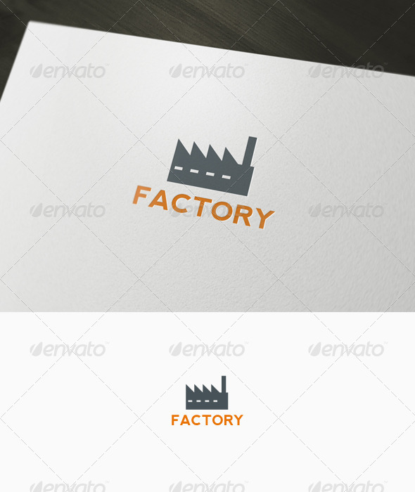 Factory Logo - Buildings Logo Templates