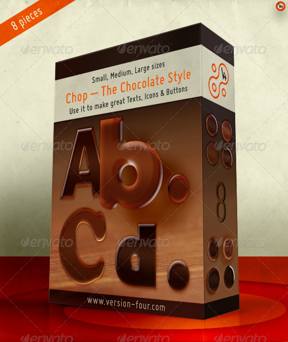 Graphic River Chop �C The Chocolate Style  Add-ons -  Photoshop  Styles  Text Effects 148102