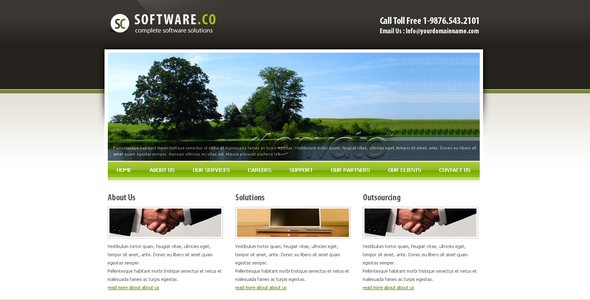 ThemeForest Software Co Html Template 48959