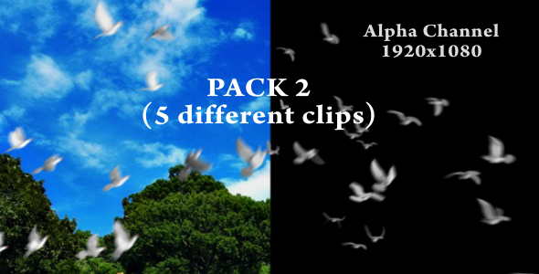 Flying doves pack Vol.2  VideoHive Motion Graphic  Elements  Events 148157 torrent