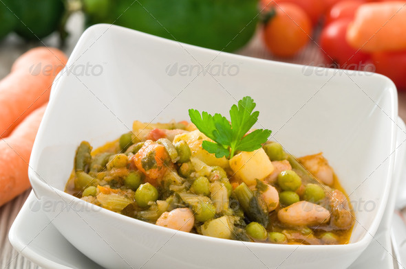 Vegetable soup. - Stock Photo - Images