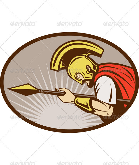 GraphicRiver Roman Soldier Centurion With Spear 1218702