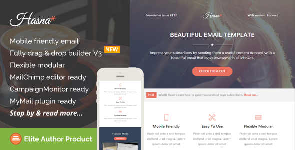 Hasna, Beautiful Email Template + Builder Access by saputrad ...
