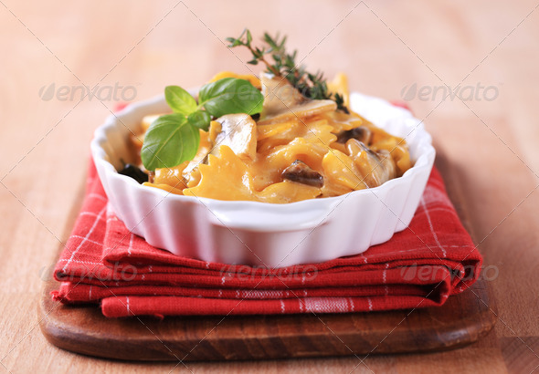 Vegetarian pasta dish - Stock Photo - Images