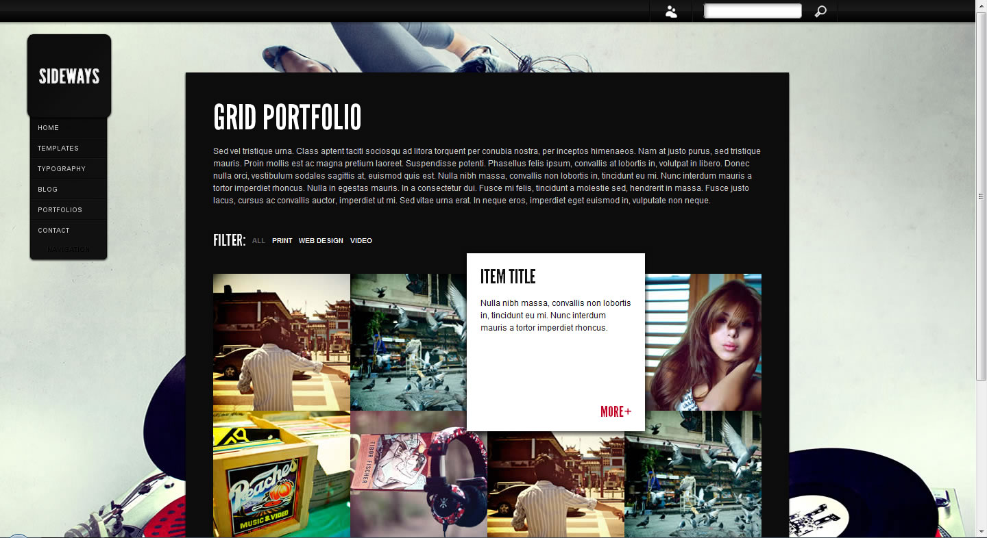 Sideways Portfolio Website Template