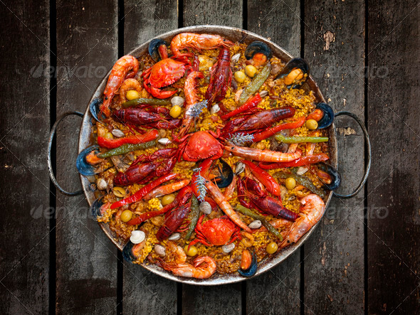 PhotoDune Spanish Traditional Seafood Paella 1222758