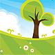 Green Land Cartoon View / Scene - GraphicRiver Item for Sale