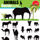 Vector Animals Silhouette Set - GraphicRiver Item for Sale