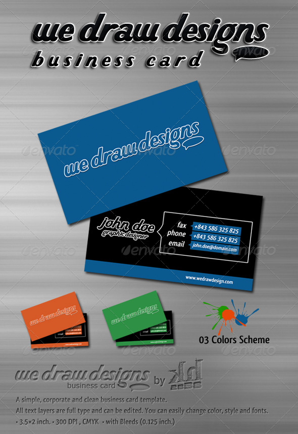 We Draw designs - Business Card - Creative Business Cards