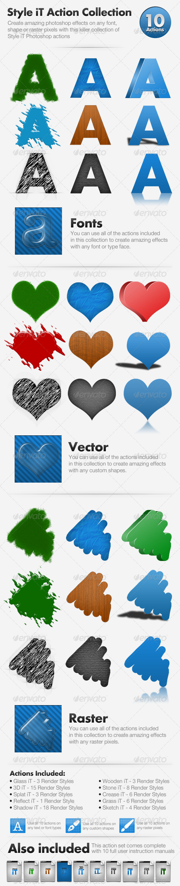 Style iT Action Collection - 10 actions - Text Effects Actions