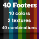 40 Website Footers-Graphicriver中文最全的素材分享平台