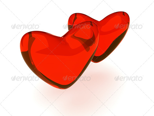 background with hearts - Stock Photo - Images