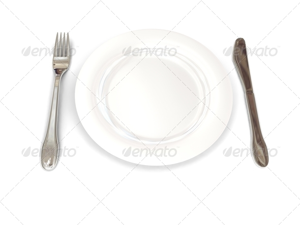 Plate over white - Stock Photo - Images