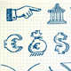 Hand-drawn currency illustration set - GraphicRiver Item for Sale