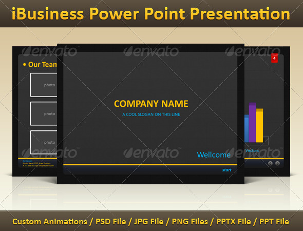 iBusiness Power Point Presentation - Powerpoint Templates Presentation Templates