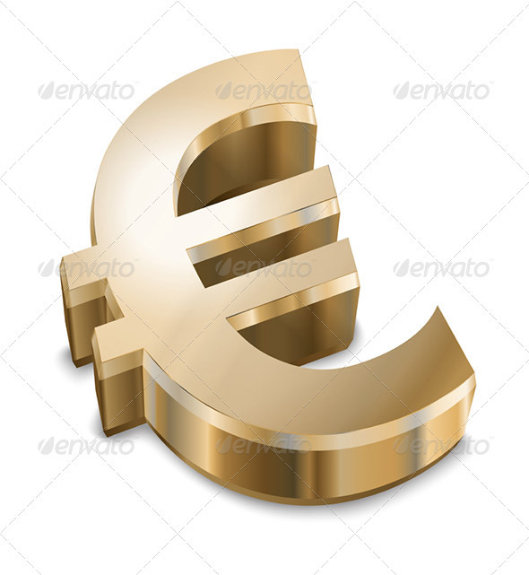 Golden Euro sign - Business Conceptual
