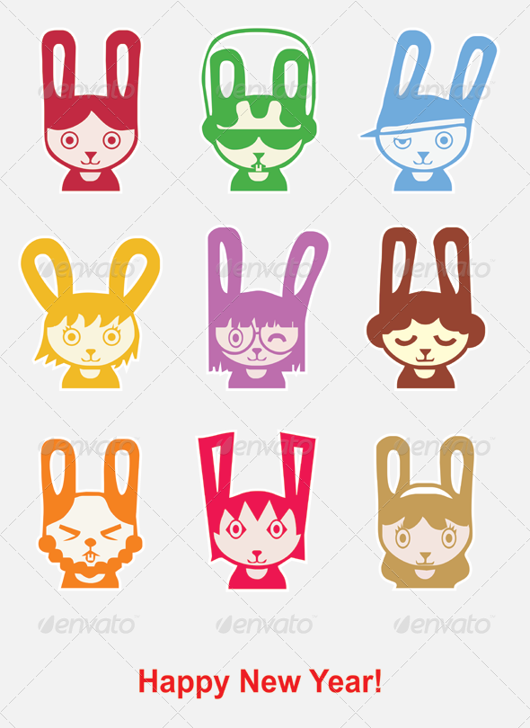2011 Rabbits - Animals Characters