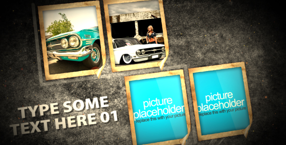 After Effects Project - VideoHive Grunge Photos on the wall 149683