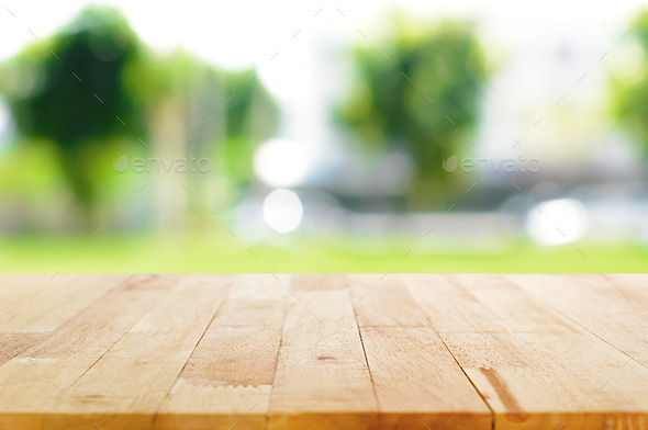 Kitchen Table Background  Wood Table Top On Blurred Green Nature Background  Stock Photo By Kritchanut. Kitchen Table Background  Empty Wooden Table And Blurred Kitchen