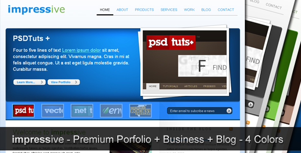 impressive - premium portfolio + business + blog -