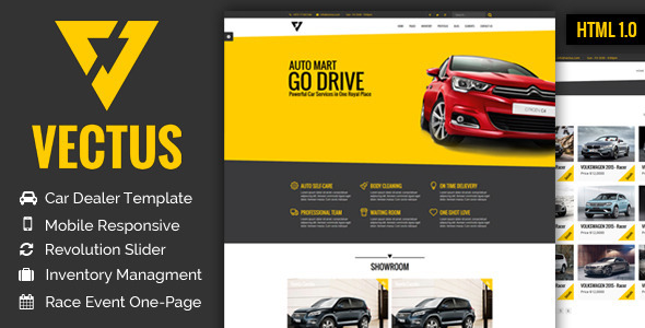 Vectus Car Dealership Amp Business Html Template By